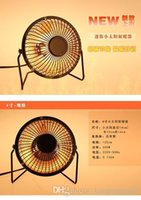Wholesale 4 inches iron mini desktop mini solar heaters small heater warm air blower fan heater calefactor electric heater A3