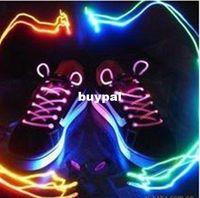 Wholesale choose neon Glow majic shoelae night bar laser shoelace light up Lighting fashion shoelaceA1A