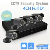 Wholesale ch H Full D1 Standalone DVR TVL IR CCTV Cameras Surveillance System IR Cut Filter CH DVR Kit