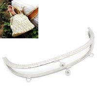 purse clasp - 2PCs Metal Purse Bag Frame Kiss Clasp Lock Silver Tone cmx11 cm B31712