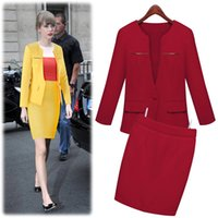 Wholesale Brand New Fashion Europe and America Jackets Suit One Button Slim Ladies Blazers Work Wear