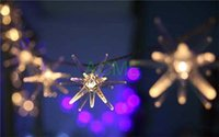 Precio de Gran luz de copo de nieve-Al por mayor-20 5m gran explosión bola de la boda del copo de nieve LED de vacaciones CADENA tira de la Navidad del envío Cortina luces de la decoración Lámparas gota
