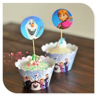cupcake toppers - 12 Frozen Party Supplies Cupcake Topper Wrapper Cake Accessories Party Decoration Event Frozen Party Supplies Kids