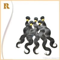 acid black dyes - Brazilian Body Wave Human Hair Weaves Virgin Remy Hair Extensions Bundles Same Lengths quot quot Natural Black B Wavy Hair Dye