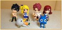 Wholesale Anime cm Fairy Tail PVC Figure Model set Natsu Gray Lucy Erza DHL A