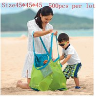 cheap beach bag - 2015 Cheap Storage Baby Beach Sandy Toy Collecting Bags Outdoor Shell Organizer Bag Shells Receive big size