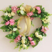Wholesale latest room decoration flower flower arrangment silk rose rosemary camellia