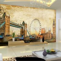 Wholesale High quality Modern Luxury d wallpaper D wall mural papel de parede photo wall paper oil Painting of London eye
