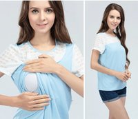 Wholesale Hot Fashion Style Soft Cotton M L XL Size Summer Nursing Clothes Breastfeeding T shirts Maternity Tops