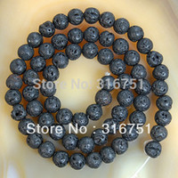 Wholesale Hot Sale quot natural Black Volcanic Lava Stone Round Beads mm Pick Siz Aa F00071