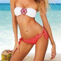 beach underwears - 2015 New Summer Triangle solid Bikinis Bathing Suits casual dresses underwears Beach Outside Party Swimwear Underwear for women swimsuits