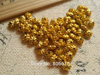 Wholesale 11MM Gold Flower Style Plastic Acrylic Beads Jewelry Findings Accessories