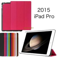 Wholesale Ultra Thin Slim Custer Patterns Magnetic Folio Stand Leather Case Smart Sleeve Cover For iPad Pro For iPad Plus quot Tablet Pc