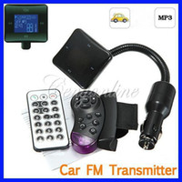 Wholesale New Bluetooth Car Kit FM Radio Transmitter Modulator MP3 Music Player USB SD MMC Steering Wheel Remote Control