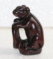 animal netsuke - ORIENTAL OLD BOXWOOD HANDWORK CARVING MOUSE NETSUKE