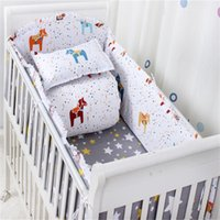 Wholesale 7 Piece Sheet Set Cotton Baby bedding Sets Boy And Crib Bedding Sets Hot Sales