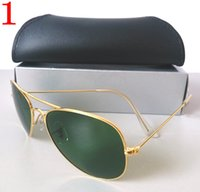 gold sunglasses - Women s Sunglasses Gold Metal Sunglass Frame mm Green Glass Lens Screw Links Mix color order