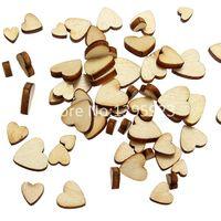 Wholesale 60Pcs App cm Style Mini Love Heart Wooden Scrap Booking Craft Card Wedding Decorating