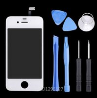 Wholesale White Front Glass Screen Touch Screen Digitizer For iPhone S Replacement Lcd Screen display pantalla ecran tela case