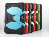 military survival - DHL FREE Extreme Military Survival silicone Heavy Dust Shock Proof Case Cover With stand holder For for iPad mini air air2