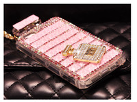 apple cover chain - Luxury Bling Glitter Crystal Rhinestone Diamond Perfume Bottle Phone Case Cover for iPhone s s s plus Chain