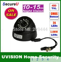 al por mayor mejor sistema de cctv del hogar-4pcs / lot liberan el sistema de interior del sistema del monitor de la instalación de la cámara de vídeo de la vigilancia de la seguridad de la bóveda del uso del IR IR 480TVL del mejor CCTV