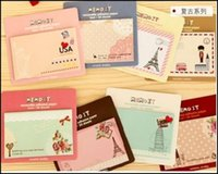 Wholesale 5pcs Lovely cute Cartoon Sticker Memo one piece have pages series pattern randomly send Hot