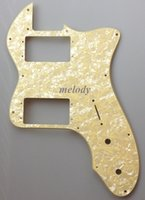Wholesale Classic Player Tele Deluxe Pickguard Wide Range HB fits s US Tele Ply Cream Yellow Pearl