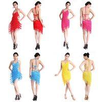 Wholesale Chic Women Tiered Tassel Fringe Jazz Age Flapper Evening Dance Dress Backless Skirts