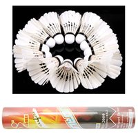 Wholesale 12Pcs Training Badminton White Single side Big Broad Duck Feather Badminton Shuttlecocks
