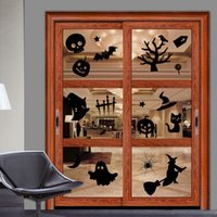 american art supplies - Happy Halloween Decorations Wall Sticker DIY Black Window Sticker for Home Halloween Decor Supplies cm