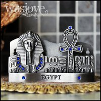 Wholesale antique classic egypt stylish namecard creative craft office decoration business card holder best gifts for males colors