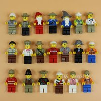 Wholesale 20Pcs Minifigures With Different Model Figures Building Blocks Educational Toy For Children Best Gift DIY Bricks Toys Action Figures