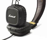 Cheap 2015 New Studio headphone Original Marshall Major with Microphone DJ Music Headphones100% New&genuine black white Headphones Phone Earphones