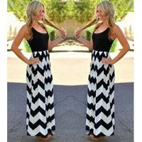 plus size womens clothing - 2015 Fashion Summer Dresses For Womens Stripe Maxi Chiffon Dresses Plus Size Sexy Sleeveless Dress Vestidos Party Casual Dress Clothes B16