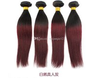 acid red dye - Red Ombre Hair Weave Extension Brazilian Hair Weave A StraightWave Human Hair Mix Length Ombre Hair A
