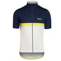 Wholesale Cheap Rapha Cycling Jersey Short Sleeves Summer Cycling Shirts Bike Wear Comfortable Breathable Hot New Rapha Jerseys colors