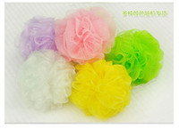 Wholesale 50pcs Bathe Bath Brushes Sponges Scrubbers Colorful Soft and Comfortable Bathroom Ball Body Wash