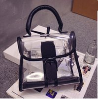 plastic tote - 2015 transparent handbags women plastic leather bag totes shoulder bags crossbody women s summer beach bags