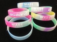 Wholesale Hot sales Bigbang MADE Silicone Bracelet Noctilucent Colorful Wristband Sport bracelets only bands no boxes package