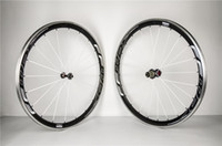 Wholesale Alloy brake suface mm full carbon wheelset clincher with black Novatec hub carbon alumimun alloy surface wheels