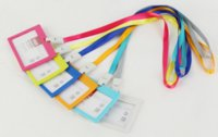 Wholesale Name badge ID card cover staff card card holder with lanayrd ID strap
