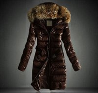 fashion hat - Europe Station Ladies Winter Jacket Fur Hoodies Down Coats Women Fashion Long Casual Parka Outdoor Jackets Black Woman Down Coat