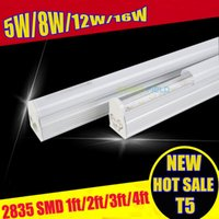 Wholesale Hot sale CE ROHS ft mm T5 Led Tube Light High Super Bright W Warm Cold White new Led Fluorescent Bulbs AC110V AC220V