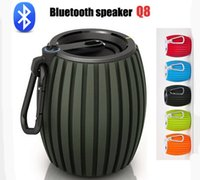 Cheap Sports outdoor speaker Q8 Wireless Mini Bluetooth Speakers with MIC Sound Shooter For Smartphone iphone support TF card USB many color