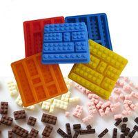 Wholesale DIY Lego Toy Brick Shape Silicone Fondant Chocolate Mold Ice Cube Mould Cake kitchen Cake Tools IT001
