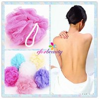 Wholesale Bath Shower Body Exfoliate Sponge Nylon Mesh Ball Colorful Bath Brushes Sponges Good Quality Hot Selling