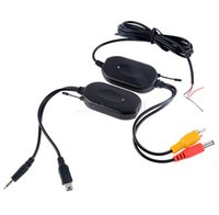 Cheap 2.4 Ghz Wireless RCA Video Transmitter Receiver kit for car dvd to connect the car rear view camera reverse backup #10 14741