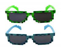 Wholesale New Minecraft Sunglasses For Fashion Women Men Green and Blue Sunglasses Block Pixel Sunglass Computer Nerd Geek Gamer Bit Glasses