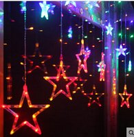 ac light blinking - Cut off the entrance curtain decorative window marriage room layout M M wide curtain Blinking Star LED string lights
